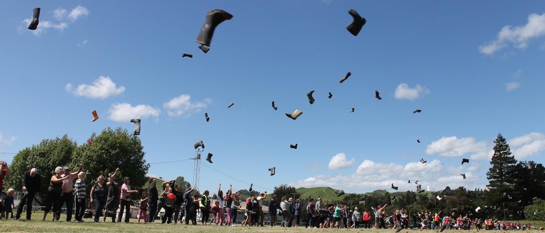 Gumboot throwing at NZ Rural Games