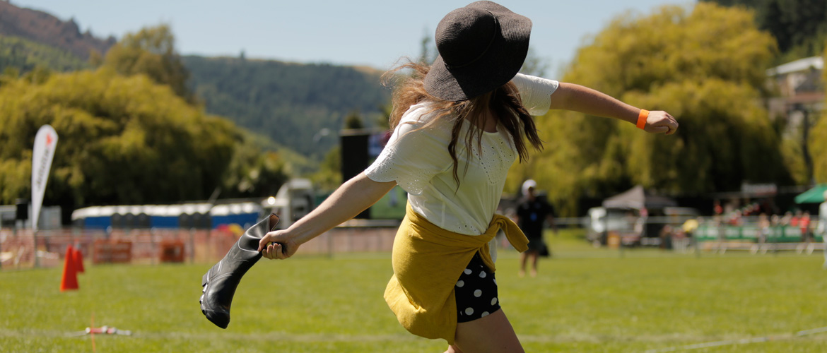 gumboot throwing championships
