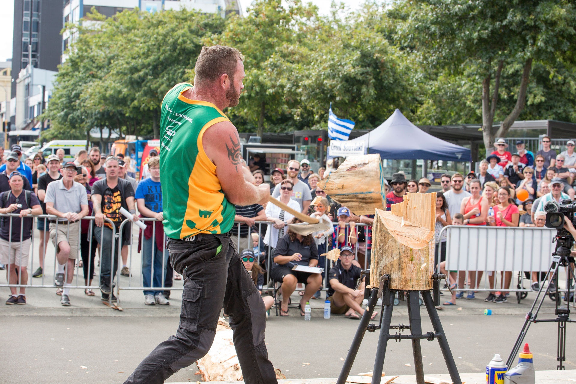 ANZAXE Wood Chopping