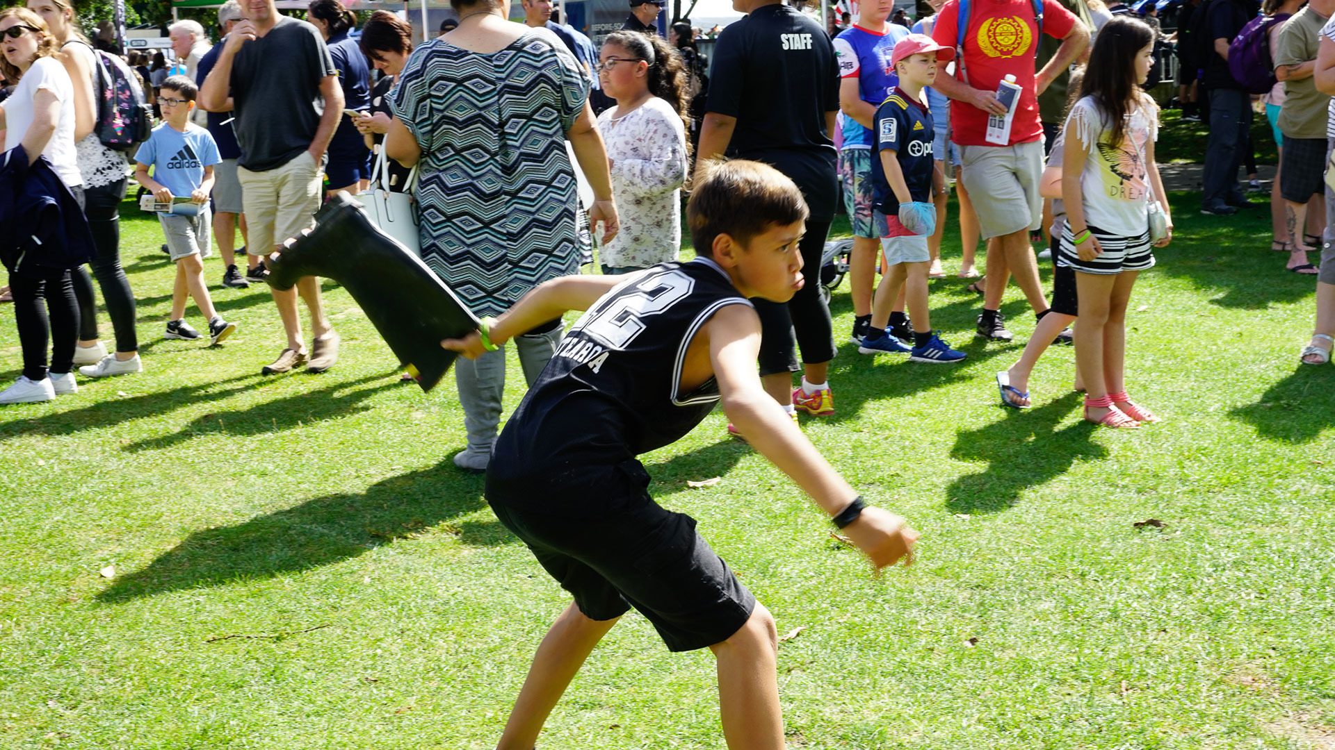Gumboot Throw Competitor