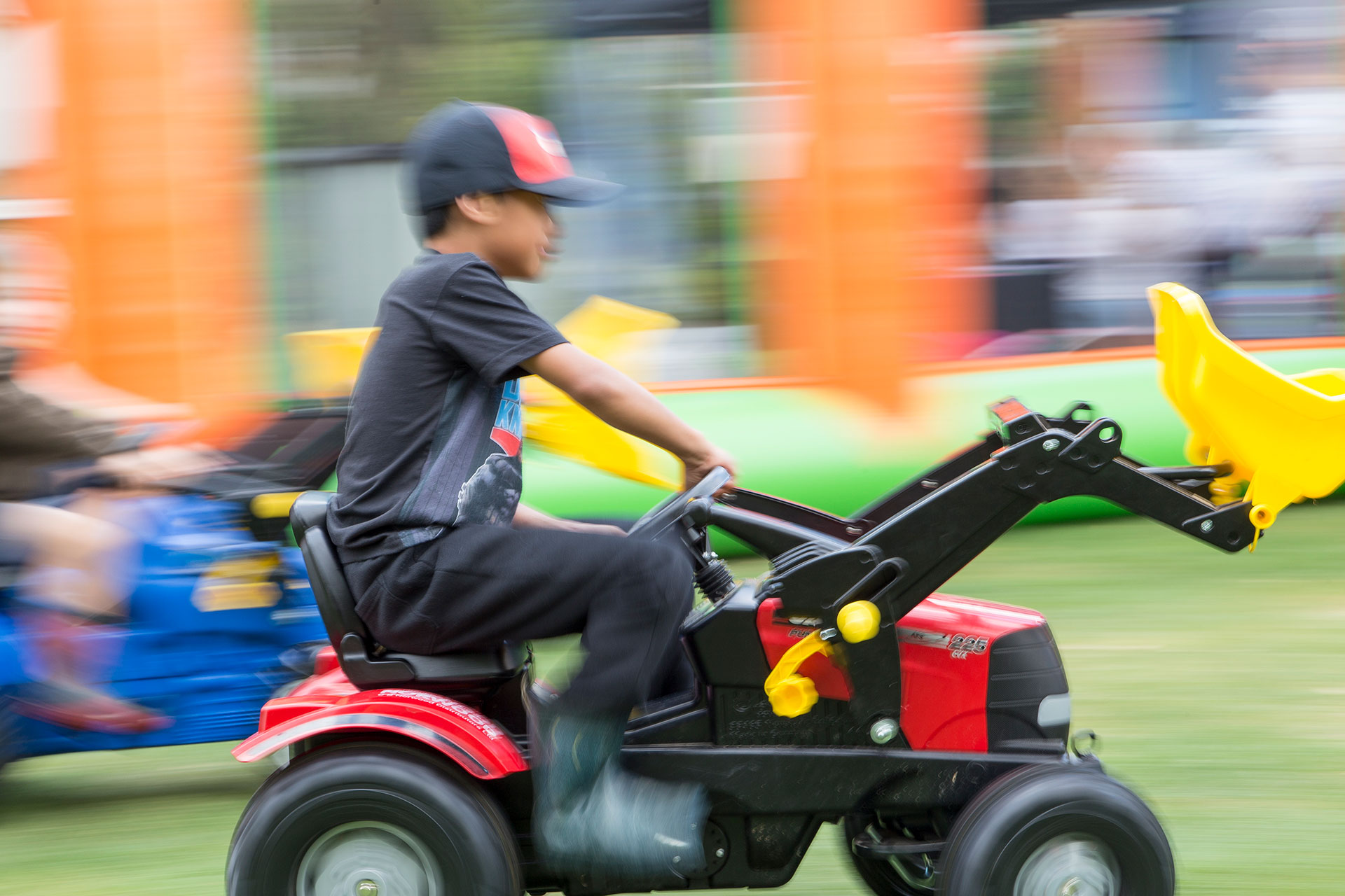 Young Boy on Tractor