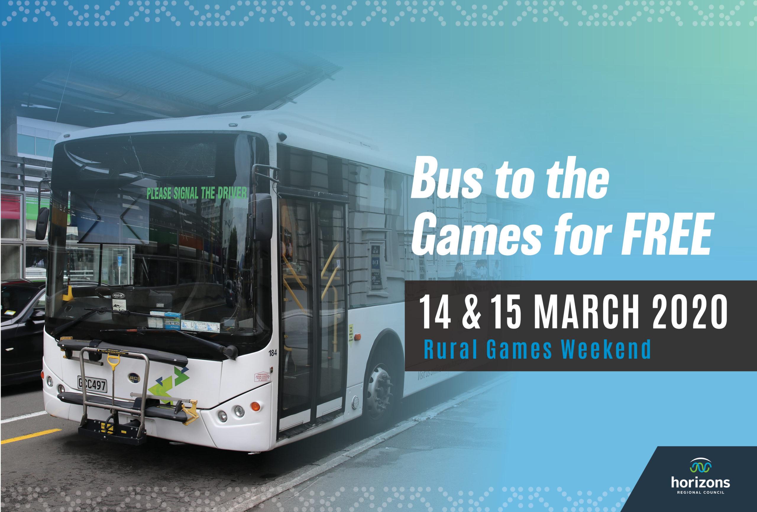 The Great Rural Games Free Bus Weekend
